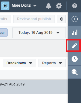 Ads Manager右邊的筆型Icon是Edit功能