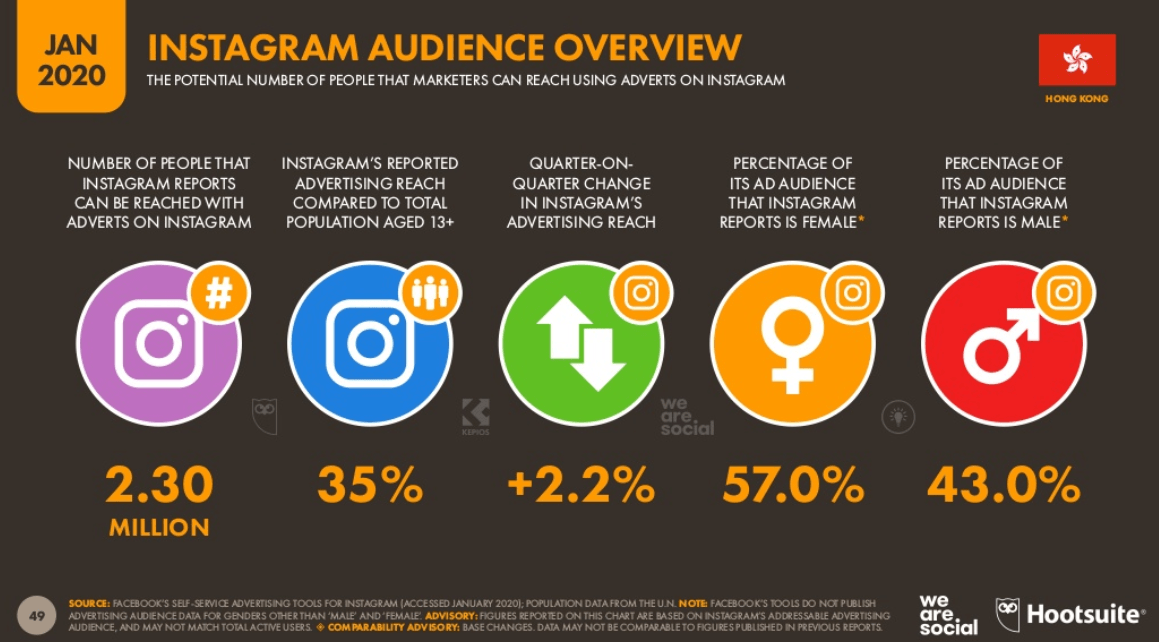 Instagram Audience Overview (Jan 2020)