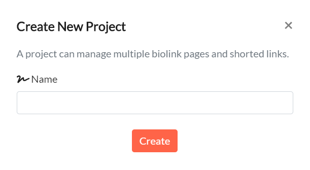 Create New Project in Network.Bio